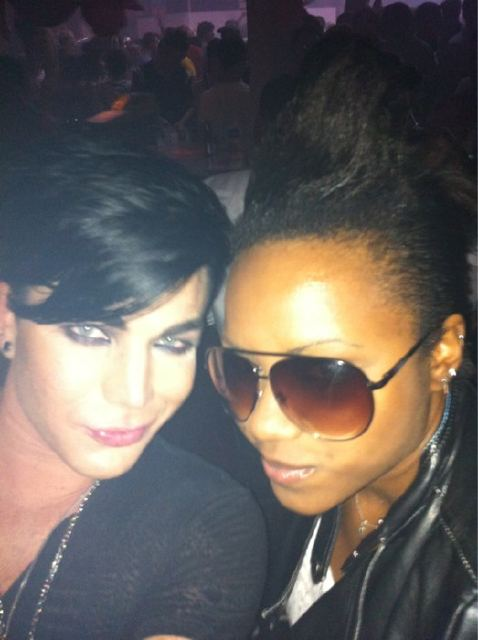 Adam at a Gay Club with Sasha Last night… tweeted by Adam!